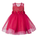 Baby Girls Coral Net & Cotton Dresses, Age: 2-3 Year