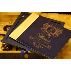 Cardboard Box Invite Wedding Cards