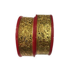 Maniar Bangles Acrylic Wedding Wear Gold Plated Bangles