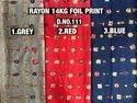 Rayon Foil Print Fabric