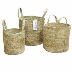 Best Selling Small Jute Basket Manufacturer