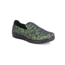 Green and Grey Casual Round Toe Slip On Shoes, Size: 40 to 41