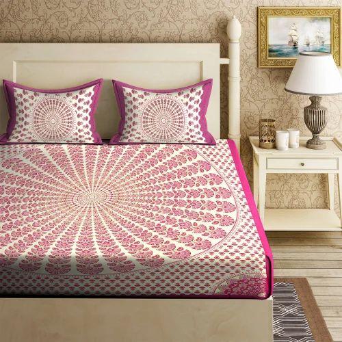 Multi Colored Pure Cotton 100% Cotton Bed Sheets