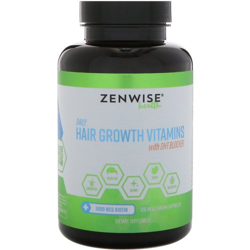 Hair Growth Vitamins >> Zenwise Health Daily Hair Growth Vitamins With Dht Blocker Vegetarian Capsules