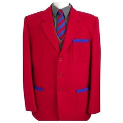 Regular Fit Polyester Red Cotton Men Blazer