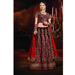 Floral Embroidered Bridal Lehenga