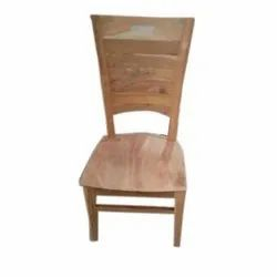 Brown 45 Cm Wooden Armless Chair