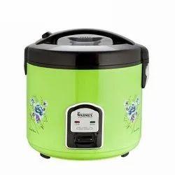 Aluminium Warmex RC 999G Rice Cooker, Green And Black, Capacity: 2.8 Liters