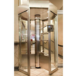 Full Height Octagonal Glass Turnstile