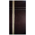 Polished Hinged Metallic Strip Wooden Door, Thickness: 1.5 Inch