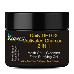 Kazima Daily Detox Activated Charcoal 2 in 1 Gel, Packaging Type: Jar, Packaging Size: 50 & 150 Gram