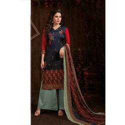Ladies Printed Cotton Palazzo Suit
