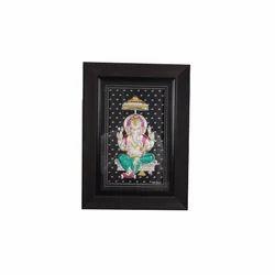 Silver Ganesha Photo Frame