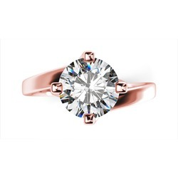 Round Solitaire Diamond Wedding Ring