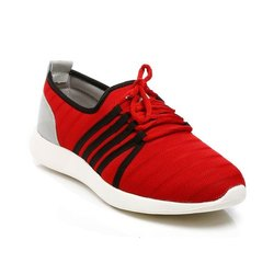 Mens Red Synthetic Walking Shoes