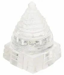 Kesar Zems Glass Shree Yantra (7cm x 5cm x 5cm & 4cm x 2.5cm x 2.5cm & 3cm x 1.5cm x 1.5cm Clear )
