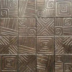Matt Brown Ceramic Designer Murals Wall Tiles, Thickness: 10-15 mm