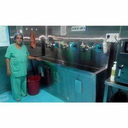 Three Bay Automatic Surgical Scrub Sink