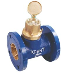 Brass Analog Water Meters Kranti Make A CLASS I S I: 2373, For Residential, Size: 0.5 - 2 Inch