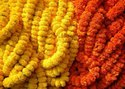 Hyperboles Marigold Artificial Flower Garland(30flowers Per Mala)Colors Available&Shipped Worldwide