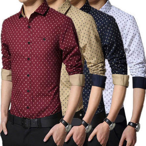 Mens Printed Shirt - Mens Casual Printed Shirts Manufacturer from ...