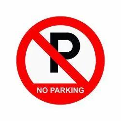 Tin Sheet No Parking Board