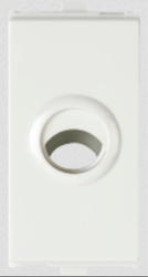 White Anchor Cord Outlet 1M Modular Switches