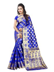 Designer Banarasi Cotton Silk Sarees With Jacquard Work