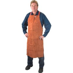 Plain Brown Leather Safety Apron