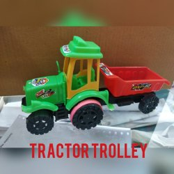 Multicolor Montez Kids Mini Tractor With Trolley Friction Toy