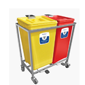 Red, Yellow Plastic Waste Segregation System 2 Bin (30 Ltr)