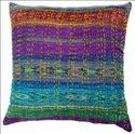 Multi Colour Silk Cushion Cover