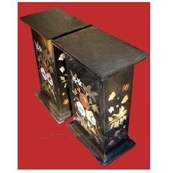 Black Marble Inlaid Table Base