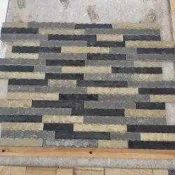 Stone Multicolor Designer Wall Tile, Thickness: 15-20 mm, Size: 6-24 Inch