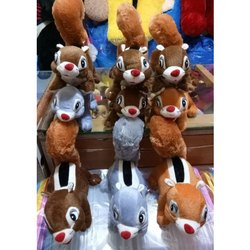 Cotton(Filling),Plush (Outer) Squirrel Stuffed Toy, Size/Dimension: 10.2 X 10.2 X 15.2 Cm, Upto 500 G
