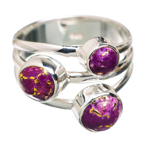 8c4acf6fe 925 Sterling Silver Purple Copper Turquoise Ring, कॉपर ...