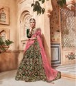 Designer Wedding Wear Heavy Embroidery Lehanga
