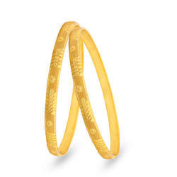 Maalyaa Party and Wedding and Traditional Gold Plated Bangle Set