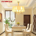 Gold Led Crystal Chandeliers Lustre Moderno Bedroom Living Room Candelabros Decorativos Lighting