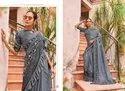 Saroj Present Melody Imported Lycra Frill Indian Festival Wear Saree