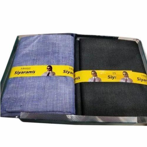 Polyester Viscose Casual Siyaram Shirting and Trouser Fabric Combo Pack Set