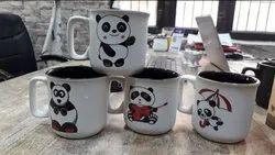 Ceramic Panda Mug, Size: 375 mL