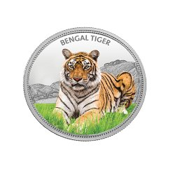 Bengal Tiger MMTC Silver Coin 31.10 gm