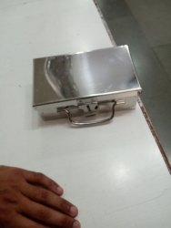 Rectangular Stainless Steel Pooja Peti, Dimension: 7 To 14, Thickness: 22 Guage