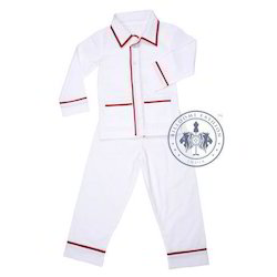 Boys White And Red Party Wear Baba Suit