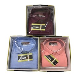 Men Plain Cotton Formal Shirt, Machine and Hand Wash