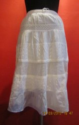 Cotton Calf Length Designer Skirt