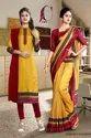 Ladies Uniform Sarees And Salwar Kameez Combo