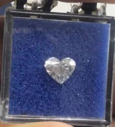 Heart Shape Diamond 1.02ct G VS1 CVD TYPE2A 6.06mm Height 7.03mm Width