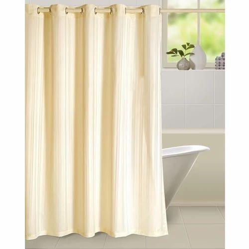 Swayam Cream Creamy Shower Curtain Rs 999 Piece Jayabharatham Furniture Appliances Pvt Ltd